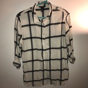 White and Black Flannel